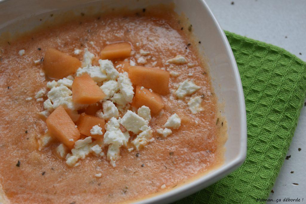 Gaspacho de melon à la fêta2