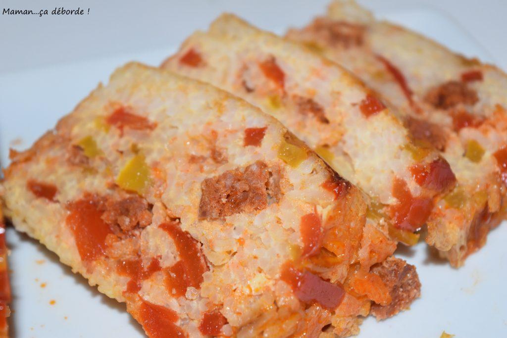 Terrine de riz aux poivrons et chorizo