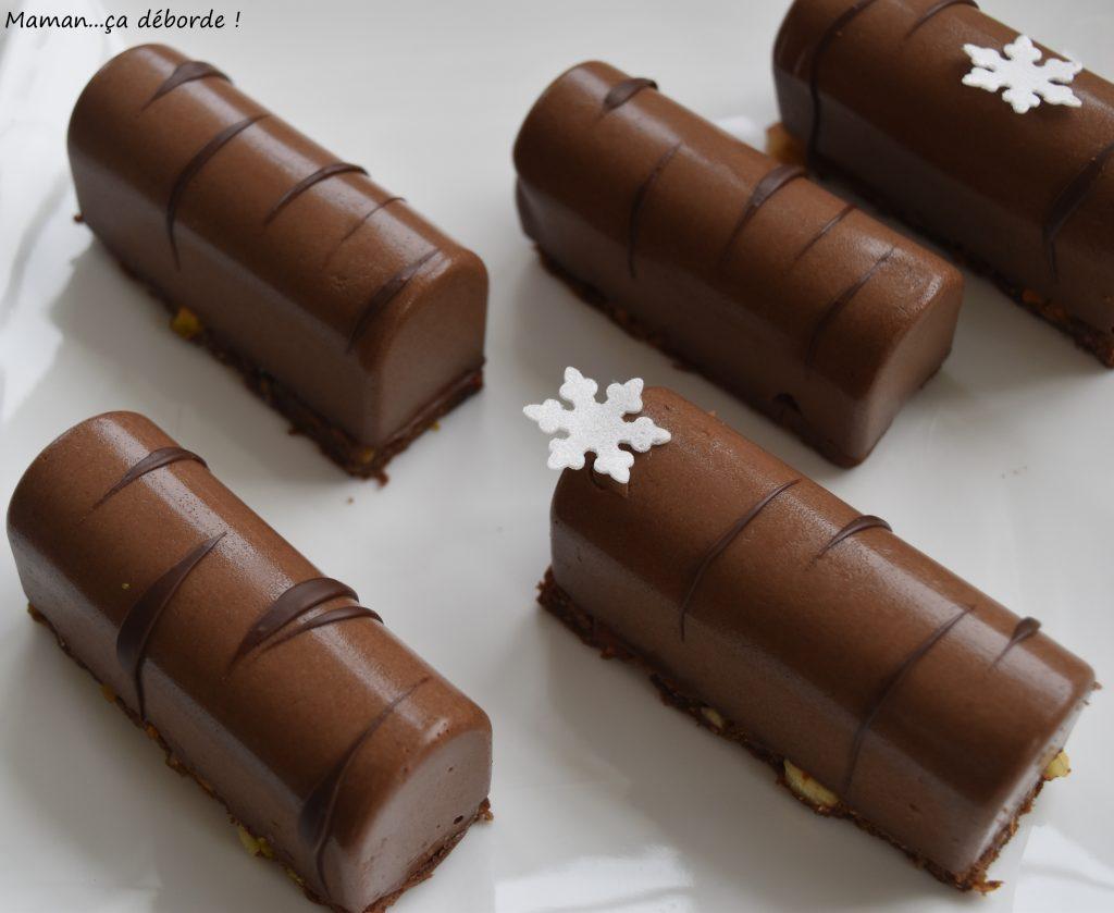 Mini buches au chocolat maman a d borde - Recette de mini dessert gourmand ...