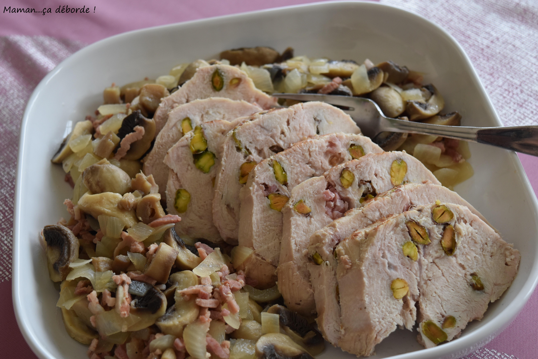 R ti de dinde aux pistaches maman a d borde - Cuisiner un roti de dinde ...