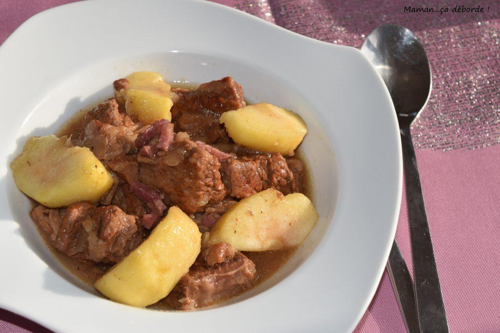 Mijoté de boeuf au cidre et aux pommes