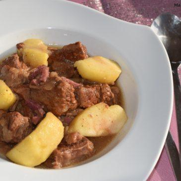 Boeuf mijoté au cidre et aux pommes