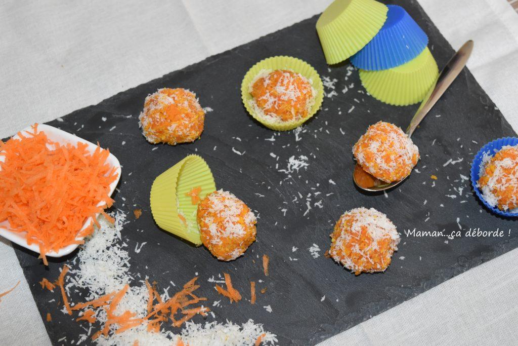 Boule carotte et noix de coco