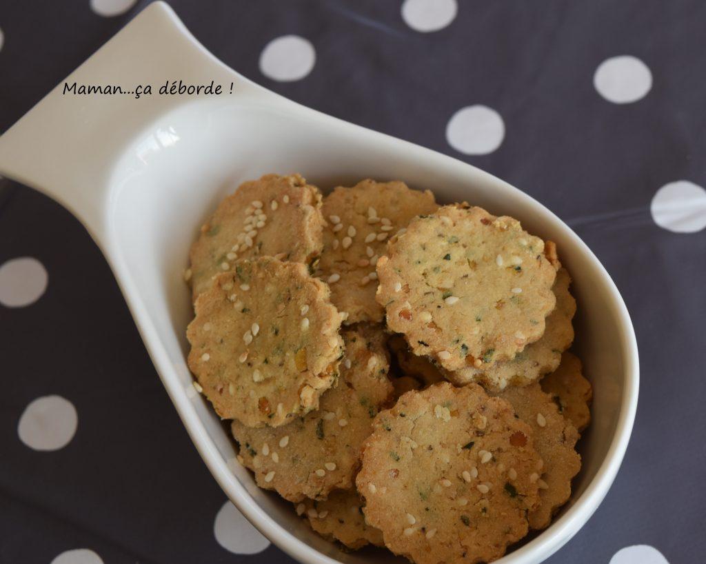 Crackers lentilles corail et coriandre