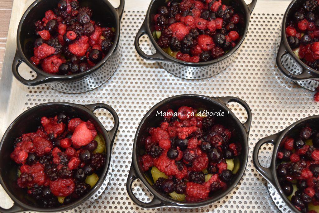 Crumble de pommes et fruits rouges