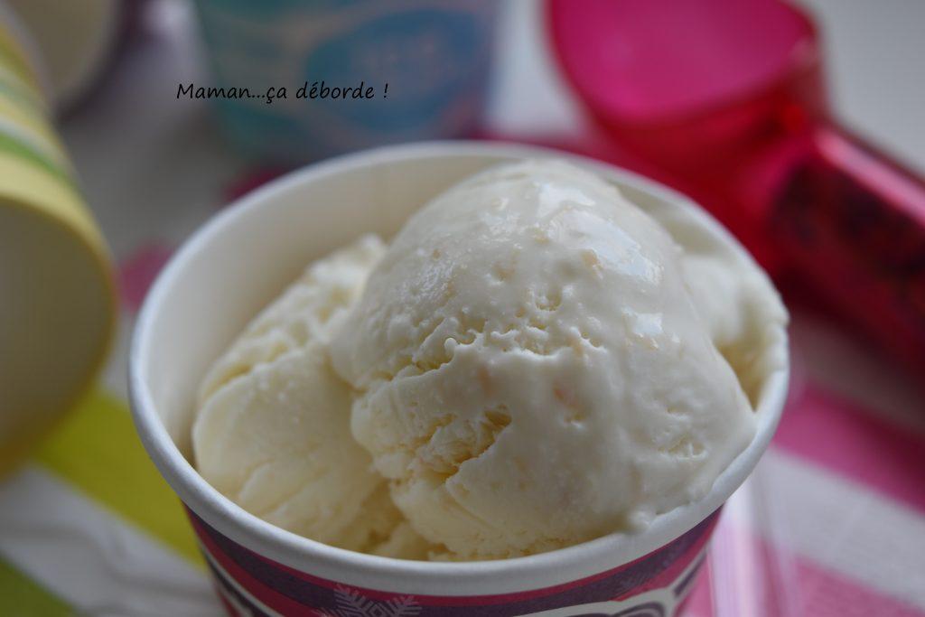 Glace la noix de coco sans sorbeti re maman a d borde - Recette yaourt glace sans sorbetiere ...