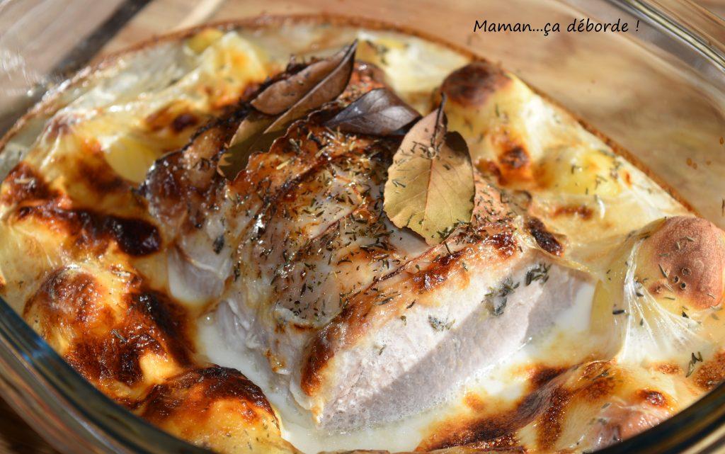 Rôti de porc au lait et ses pommes de terre fondantes