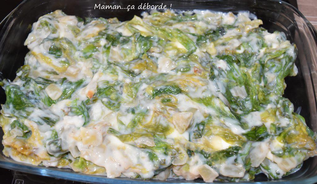 Gratin de salade cuite et oeufs durs