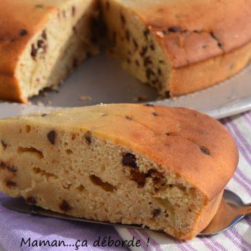 Gâteau au yaourt et lait ribot aux pépites de chocolat
