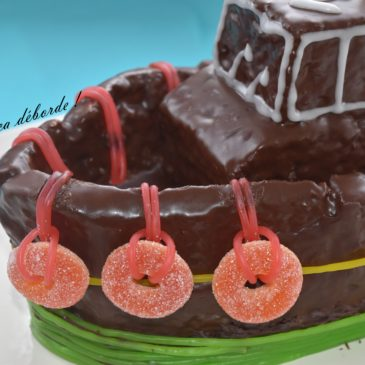 Le gâteau bateau en 3 D