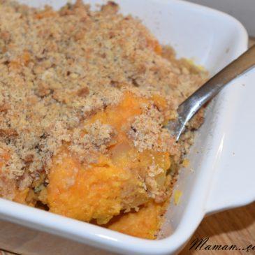 Crumble de patate douce et carotte